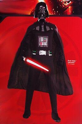 Mens Darth Vader Star Wars Halloween Costume Mask Cape Large XL 42 44 46 NEW - Darth Vader Halloween Costume