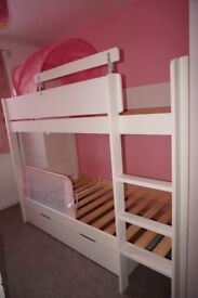 Tinsley Bunk Bed with Drawer - White (from Dreams)