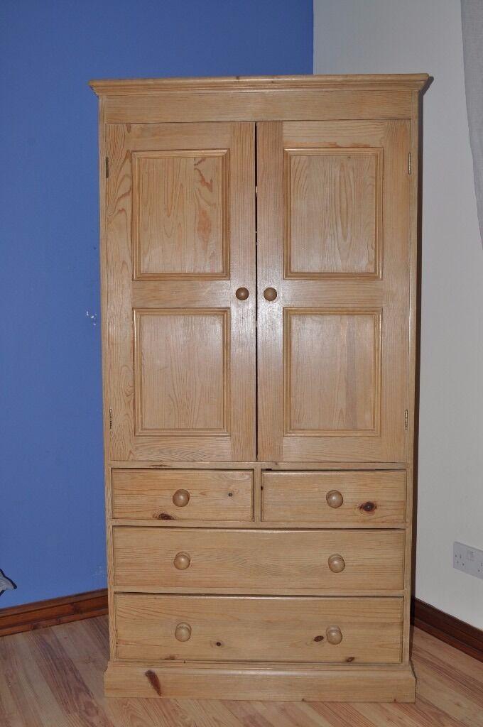 Pine Linen Press Cupboard