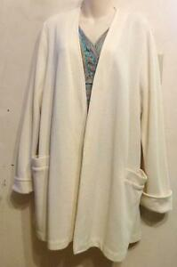 WEEKENDERS XL CREAM CLASSIC JACKET 541 Stretchy Knit Cardigan Sweater 16 18 CANADA Comfortable Easy-Care
