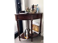 Antique wooden corner table in great condition