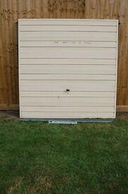 Metal garage dood or doors.