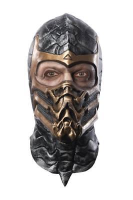 Herren Erwachsene Mortal Kombat Deluxe Skorpion Ganzer Kopf Maske Kostüm Zubehör ()