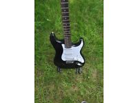 Squier Strat guitar, black