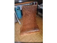 hammered copper fire cowl