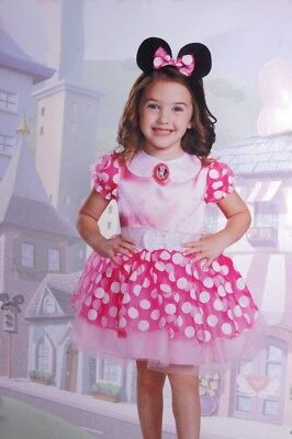 Disney MINNIE MOUSE Baby Girls TODDLER Halloween Costume Dress Ears 2T Purim NEW
