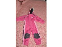Toddler snowsuit, 1-2 years old girl winter overall.