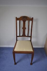 Set of 4 Walnut high back chairs