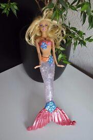Barbie Sparkle Lights Mermaid Doll purple/blue