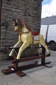 vintage retro large rocking horse
