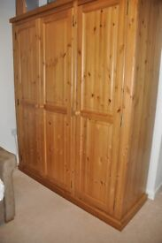 Solid Pine Triple Wardrobe from Devonshire Living