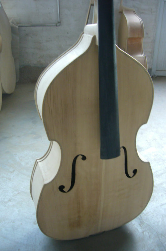 Hand made white/unfinished upright bass 3/4 spruce top