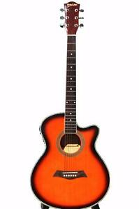 Acoustic Electric Guitar for beginners Sunburst 40 inch iMusic227