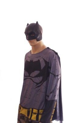Mens BATMAN v Superman Halloween Easy Costume LS Shirt Mask Cape Purim XL NEW