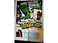 FILM POSTER OF THE ALLIGATOR PEOPLE ORIGINAL U.S. ONE SHEET LOOKS STUNNING