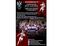 Join Rugby with Watsonians Ladies!