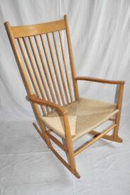 Vintage Retro 60's Danish Hans Wegner J16 Shaker Style Rocking Chair