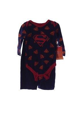 Baby Boys SUPERMAN 1 Piece LS Super man Shirt Pants 3 6 Months Infinity War - Baby Super Man