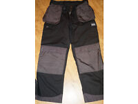 """Trojan Multi-Pocket Tradesman Trouser Black/Grey Size 36"""""""