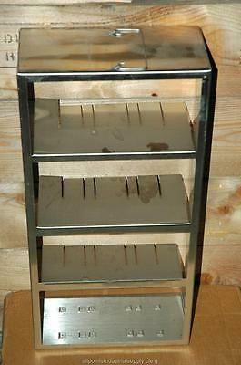 Cryogenic Cryo Storage Rack Stainless Steel -80 Freezer Tray Rack 22 X 5 X 11