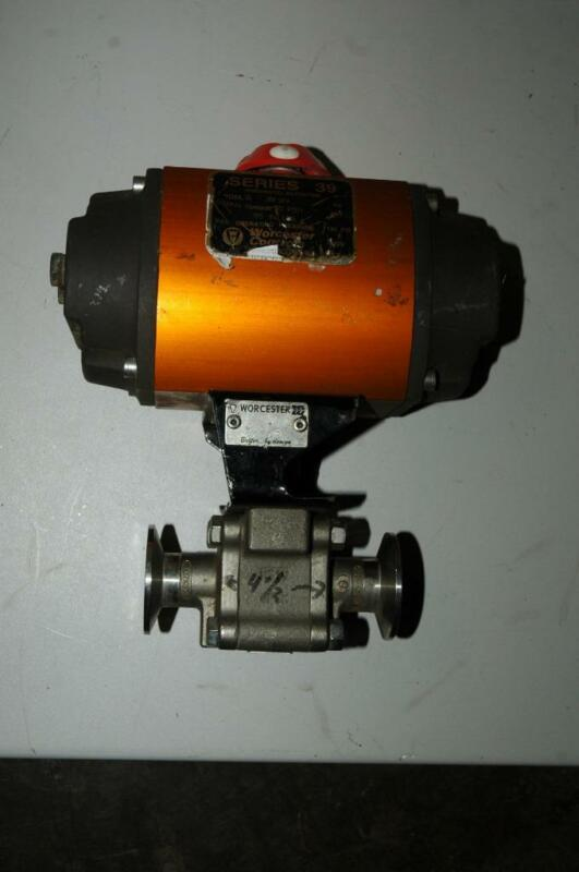 "Worcester Controls Pneumatic Actuator Series 39 Model 15 1"" Sanitary Ball Valve"