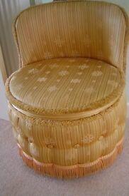 Bedroom chair - lovely gold, upholstered chair