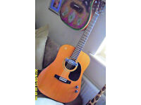 FENDER F-03 Acoustic 6 string R H player with soundhole pickup and controll vol / tone