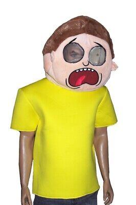 Mens Rick & MORTY Halloween Costume MASKIMAL Mask Shirt Purim Adult Swim S M NEW - Rick Halloween Costume
