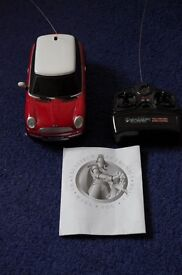 EXCALIBUR MINI COOPER FULL-FUNCTION RADIO CONTROL CAR 1:20-MODEL 9344-USED-COLLECT ONLY BENFLEET