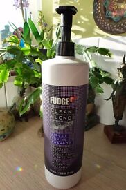 Fudge Clean Blonde Violet Toning Shampoo large 1 litre bottle