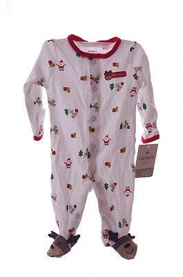 Baby Newborn Infant Carters Santas Helper Reindeer Pjs Sleeper NB Outfit NEW Santas Helper Outfit