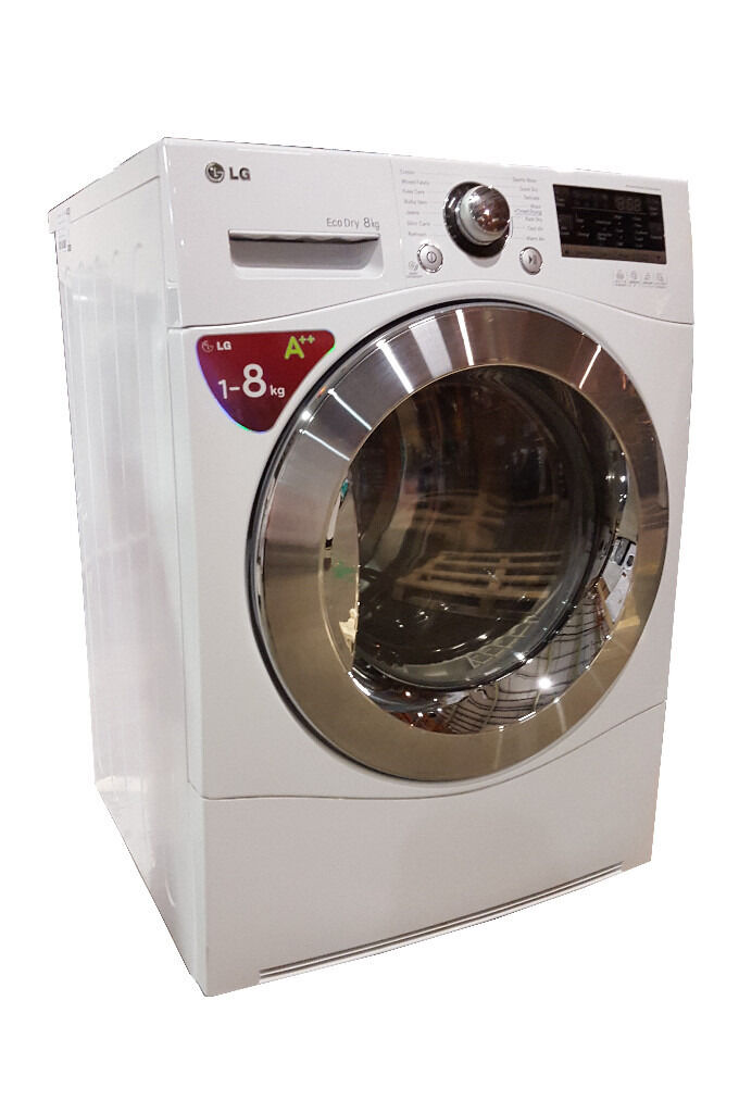 LG RC8055AH2Z Unobxed Tumble Dryer Heat Pump Hybrid 8kg Whitein Normanton, West YorkshireGumtree - LG RC8055AH2Z Unobxed Tumble Dryer Heat Pump Hybrid 8kg White DESCRIPTION Seller refurbished LG RC8055AH2Z Unobxed Tumble Dryer Heat Pump Hybrid 8kg White. Item in good condition. Front panel is in very good condition. There are some scratches...