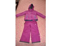 Dare2b ski jacket & salopettes for 4-5 years old girl (104 cm)
