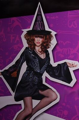 Womens DIVA Fashion Trendy Bad WITCH Halloween Costume Hat Sm 4 6 Med 8 10 NEW