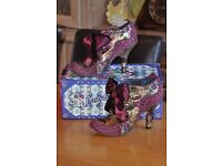 Irregular Choice Abigails Party Boot (Purple/Gold) - Size 40