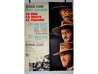 ORIGINAL FRENCH FILM POSTER OF THE GOOD ,THE BAD, AND THE UGLY LOOKS STUNNING