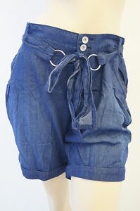 Denim-Jeans-Low-Rise-Belted-Ladies-Shorts-New-Look-Size-8-10-12-14-16-18-NEW