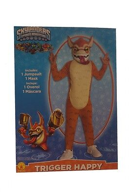 Boys Skylanders Spyro Trigger Happy Halloween Costume Sm Med Large 6 8 10 12 NEW