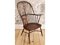 1960's Ercol Windsor Chairmakers Swan Back Double Bow Fireside Chair mdl 7911 - Golden Dawn Finish