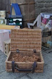wicker cane basket