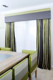 Beautiful Fully Lined Curtains with Rail and Pelmet