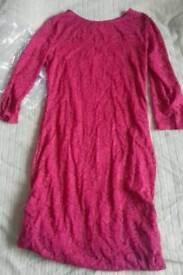 Ladies raspberry colour dress size 12
