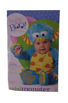 Baby Boo Monster Cute Warm Baby Toddler Halloween Costume 6 12 18 Months 2T NEW