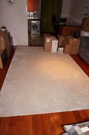 ÅDUM Rug, high pile Off-white 200x300 cm