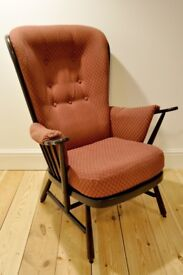 Vintage retro 60s Ercol ercol Evergreen armchair (model 1913) traditional finish