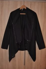 Womens Black Jacket Coat Top size M 10/12
