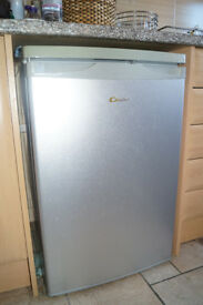Candy 55cm Undercounter Larder Fridge/Freezer in Grey/Silver