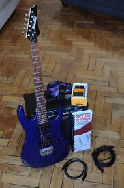Ibanez Electric Guitar with Peavey Amp, Pedal and Accessories