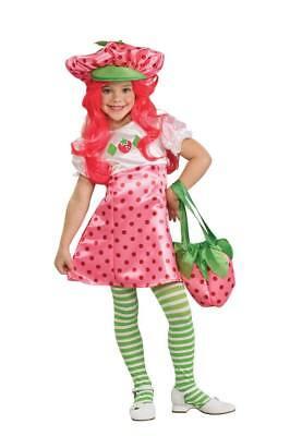Mädchen Kind Deluxe Strawberry Shortcake Rosa Kleid Kostüm Outfit