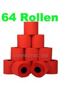 Toilettenpapier Rot, 64 Rollen, 3 lagig, HP - 99020, WC, Papier, farbiges, bunt